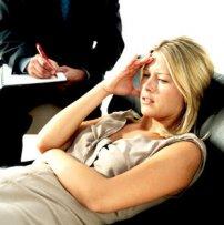 kobieta podczas wizyty u psychologa